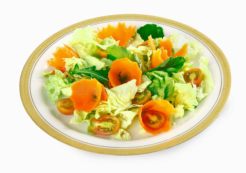 Салат и морковь стоковые изображения