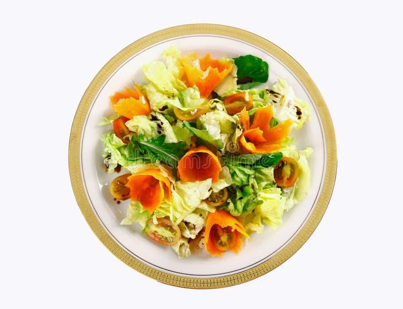 Салат и морковь стоковая фотография rf