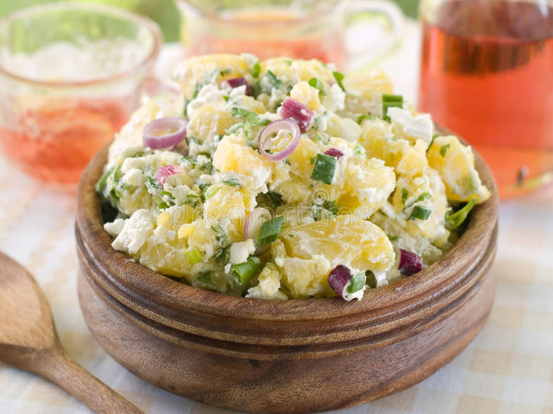 Салат картошки стоковая фотография rf