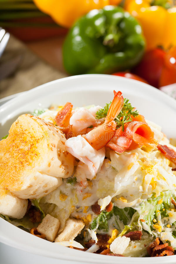 Салат креветки стоковое фото rf