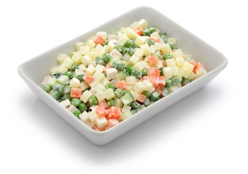 Салат македонии, macedoine de бобы, смешанный vegetable салат стоковая фотография