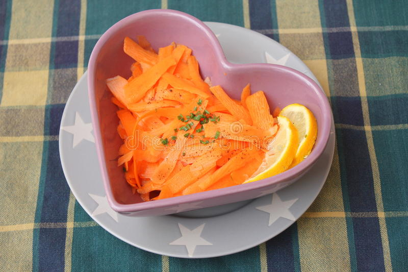 Салат морковей стоковое фото