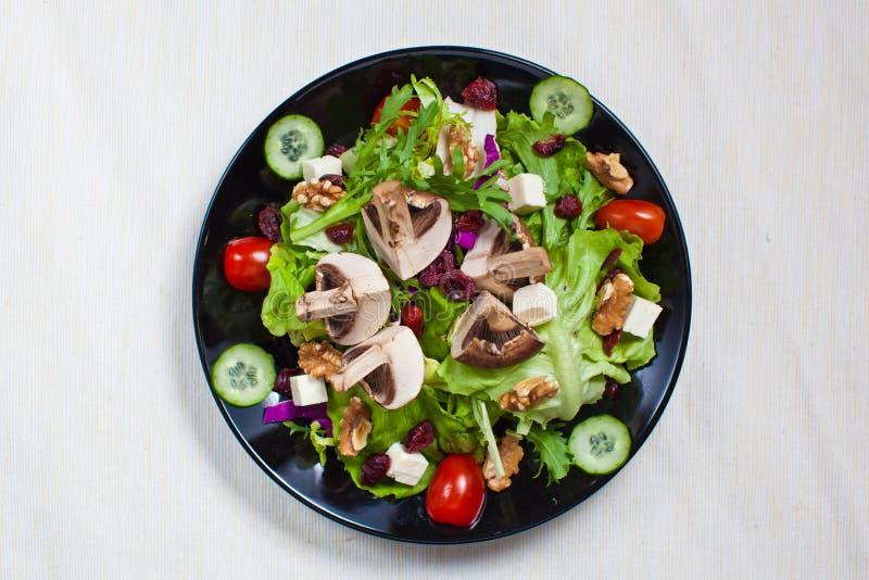 Салат овоща сада гриба стоковые фотографии rf