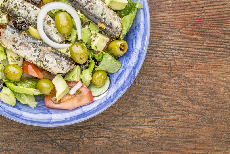 Салат сардины стоковое фото rf