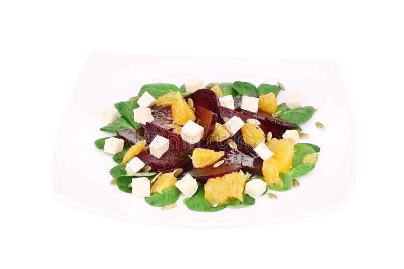 Салат свеклы с сыром и апельсином фета стоковые изображения rf