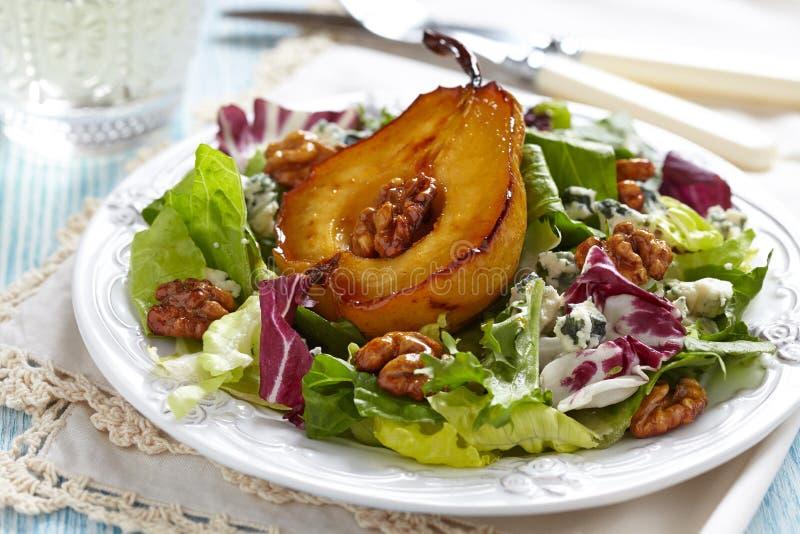 Салат с грушей стоковые изображения