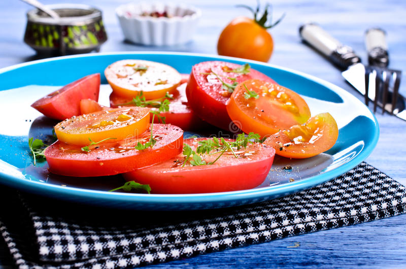 Салат томатов стоковое фото