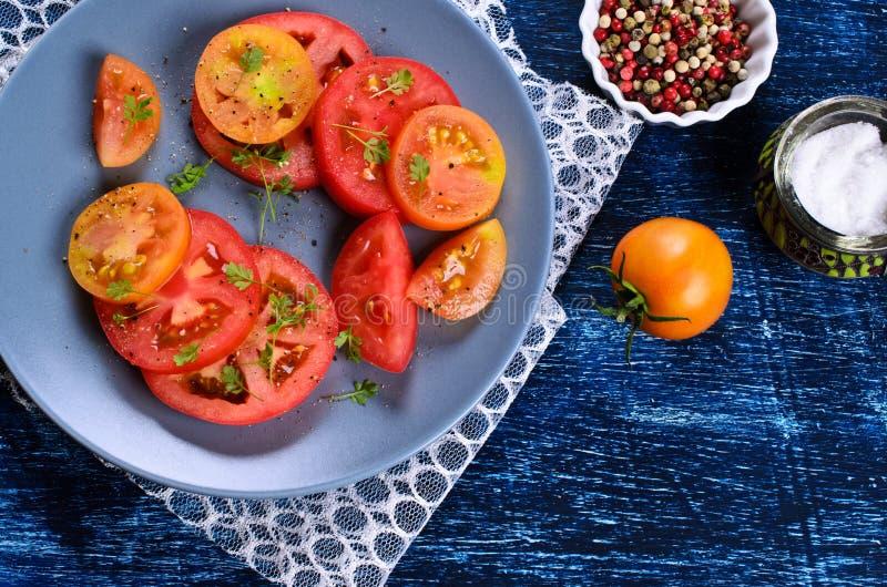 Салат томатов стоковые изображения rf