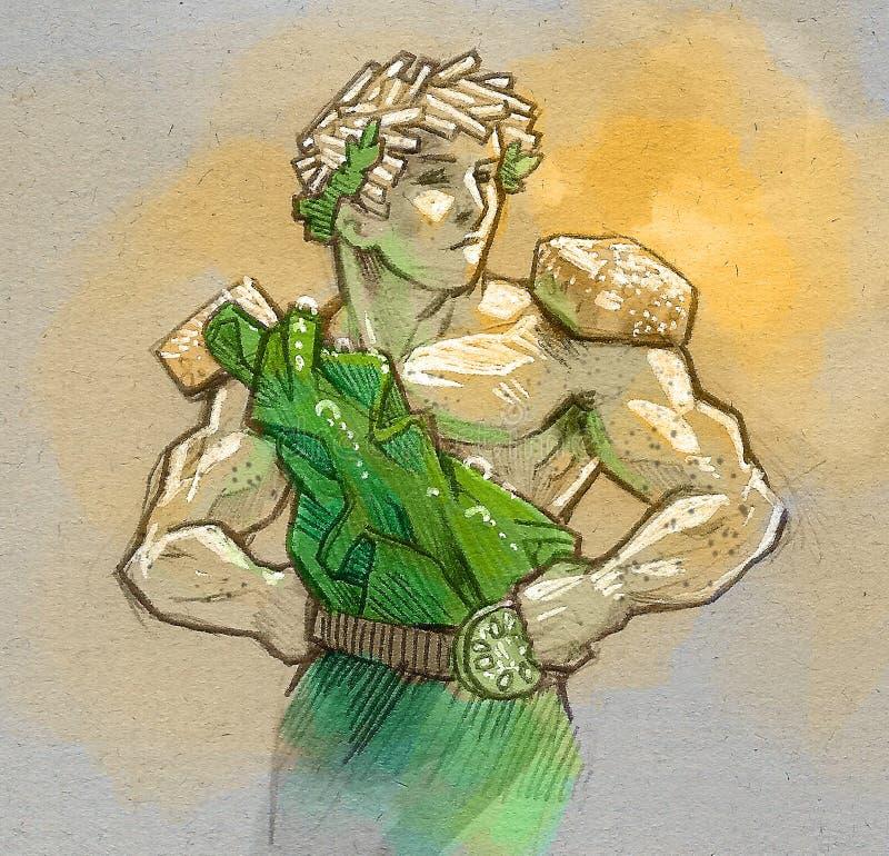 Салат цезаря бесплатная иллюстрация