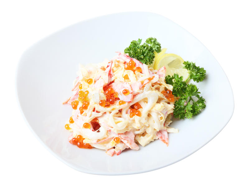 Салат Nemo на блюде стоковое фото rf