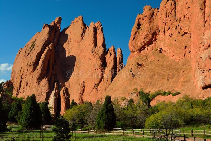 Сад богов Колорадо-Спрингс стоковые изображения rf