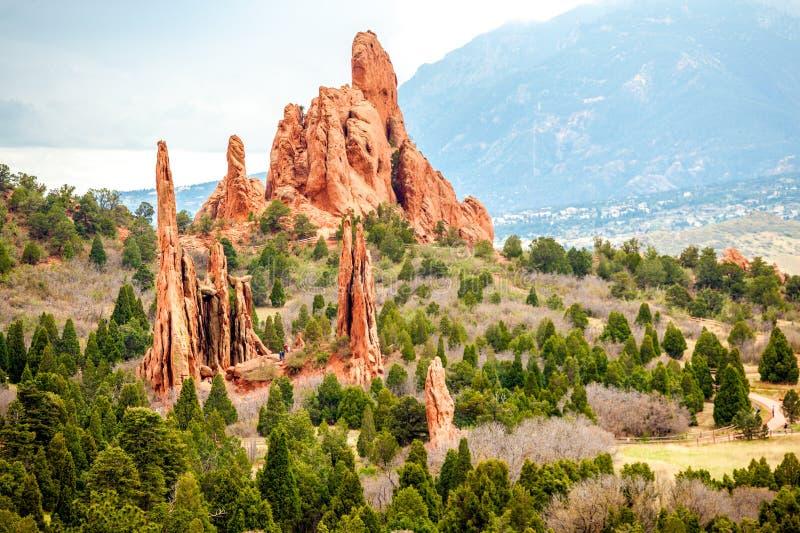 Сад богов, Колорадо, США стоковая фотография