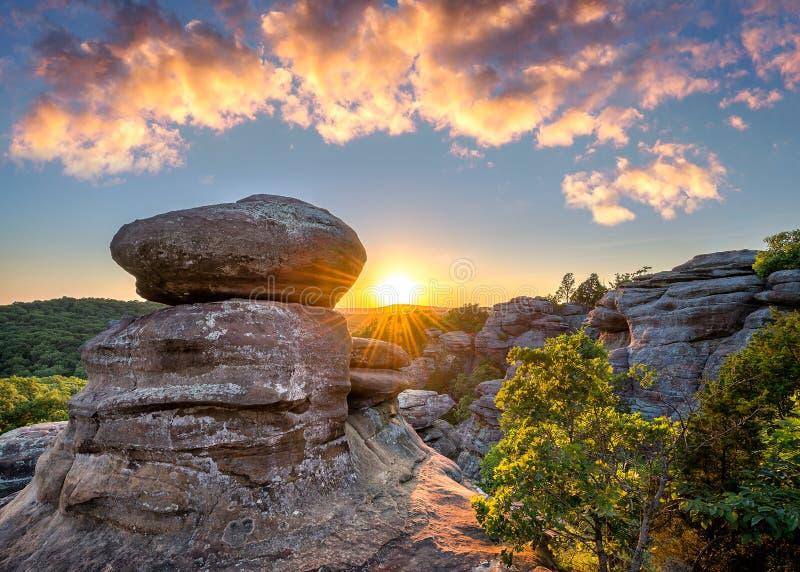 Сад богов, национальный лес Shawnee, Иллинойс стоковое фото