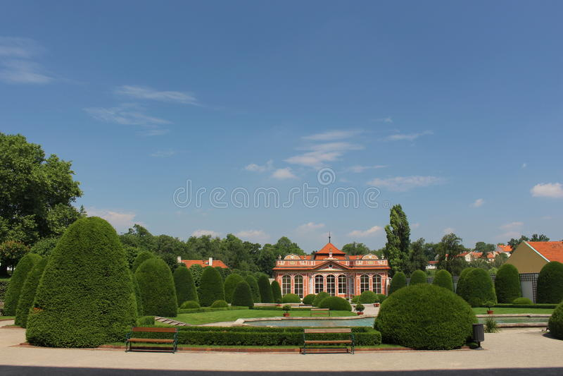 Сад дворца Czernin стоковые фотографии rf