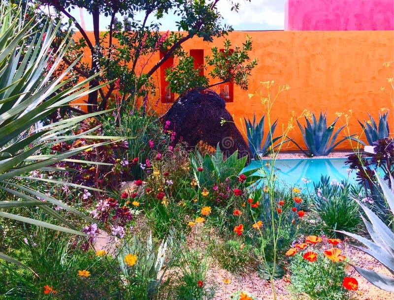 Сад выставки на выставке цветов Челси стоковая фотография rf