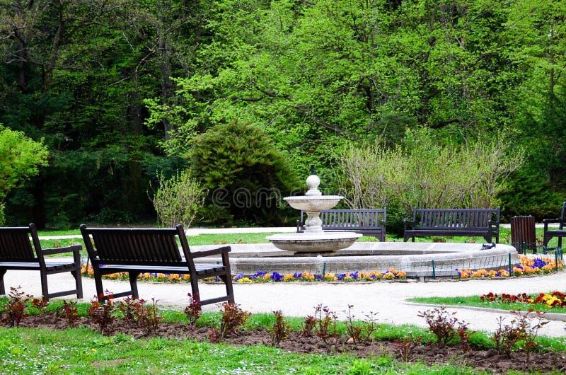 Сад в дворце Vrana, стоковые изображения