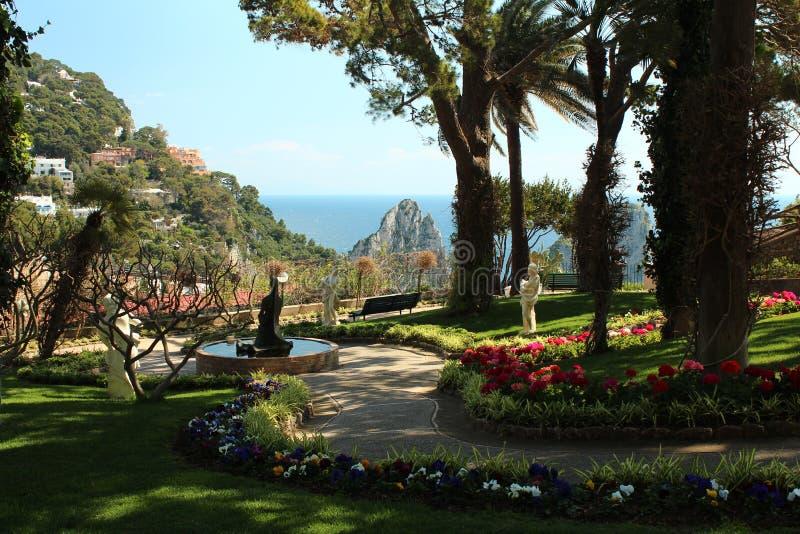 Сад в Капри, Италия стоковое фото