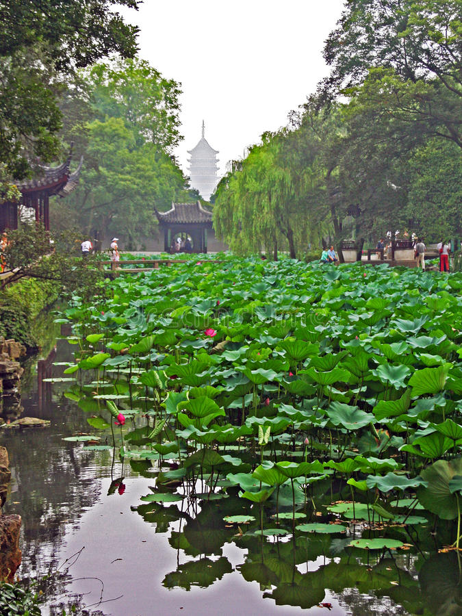 Download Сад в Сучжоу около Шанхая, Китая Редакционное Фотография - изображение насчитывающей красивейшее, vintage: 41655487