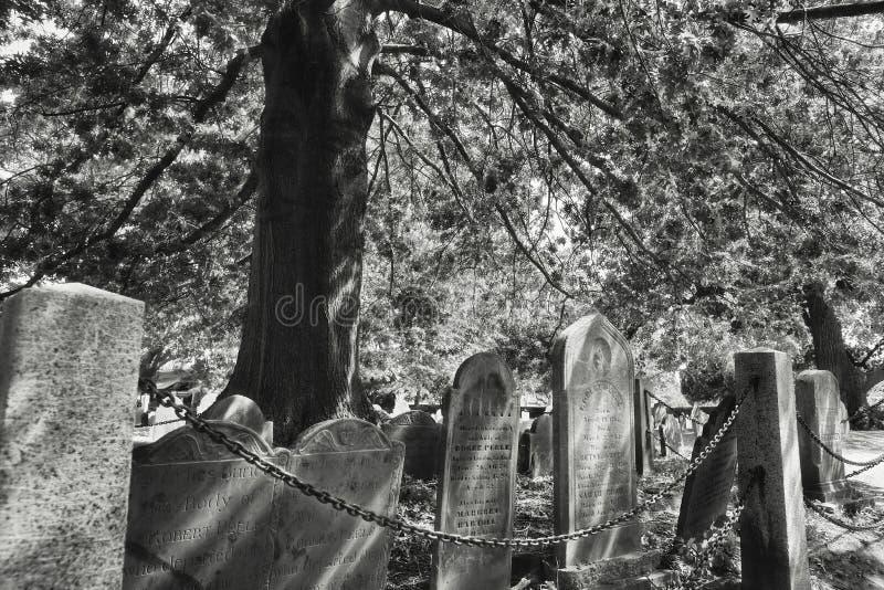 Салем Массачусетс хороня кладбище пункта стоковая фотография rf