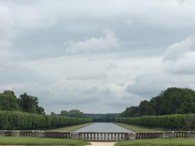 Сад замка в Франции стоковые фотографии rf