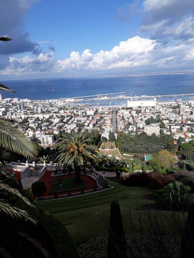 Сад Израиль Bahai стоковая фотография rf