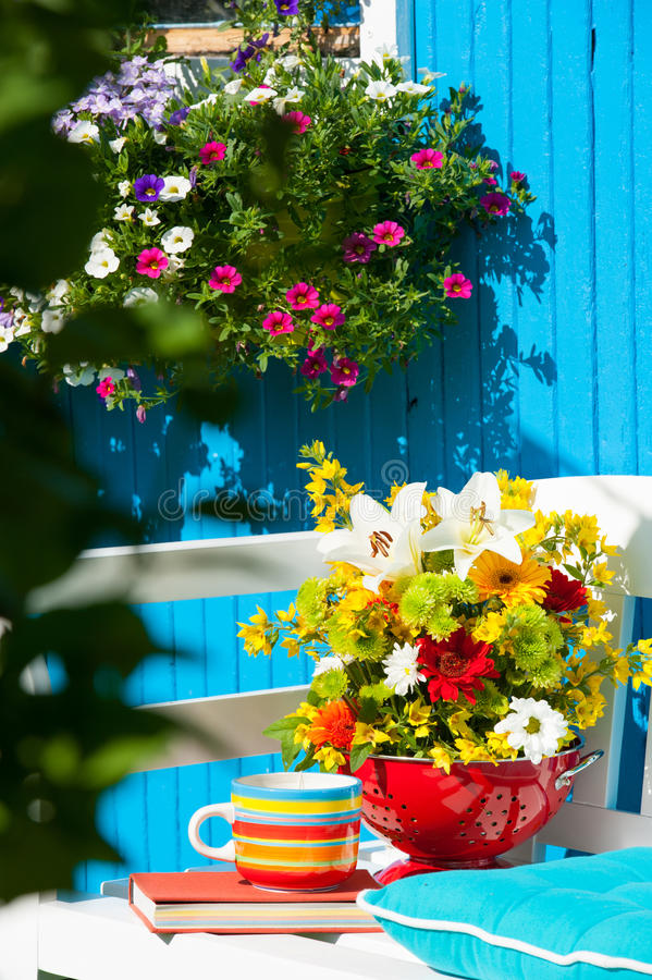сад идилличный стоковое фото rf
