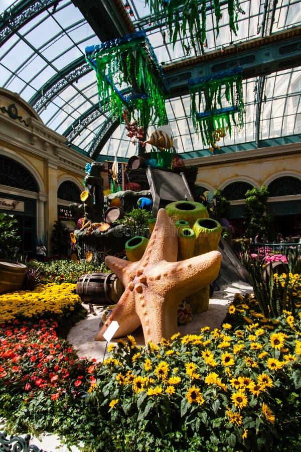 Сад на Bellagio в Лас-Вегас, Неваде стоковая фотография