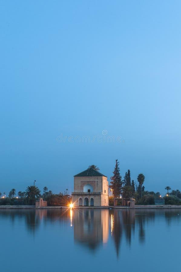 садовничает pavillion Марокко menara marrakech стоковое изображение rf