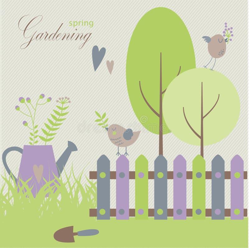 Садовничать в весеннем времени стоковое изображение rf