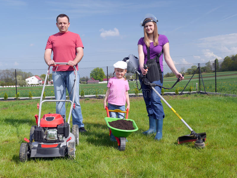 Садовничать семьи стоковое фото