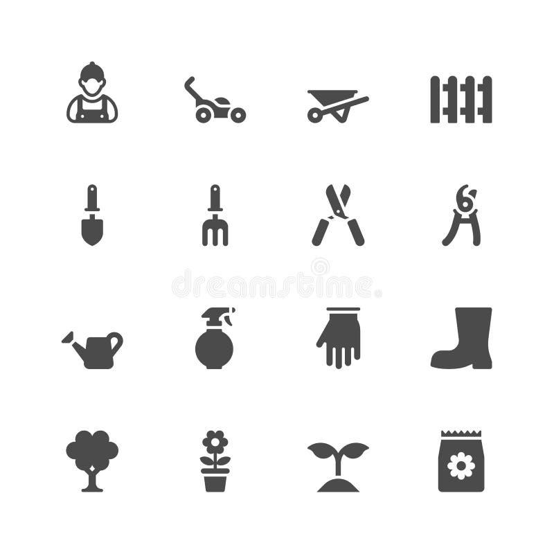 садовничая иконы иллюстрация вектора