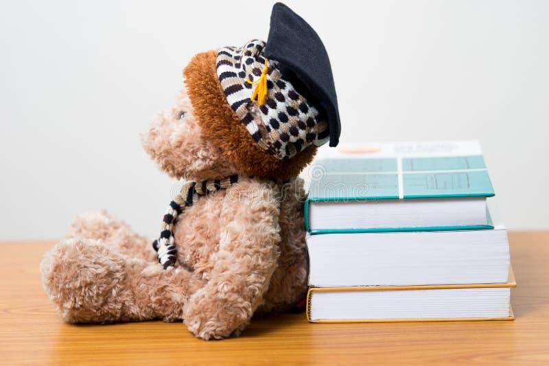 Салон плюшевого медвежонка постдипломный книга стоковые фотографии rf