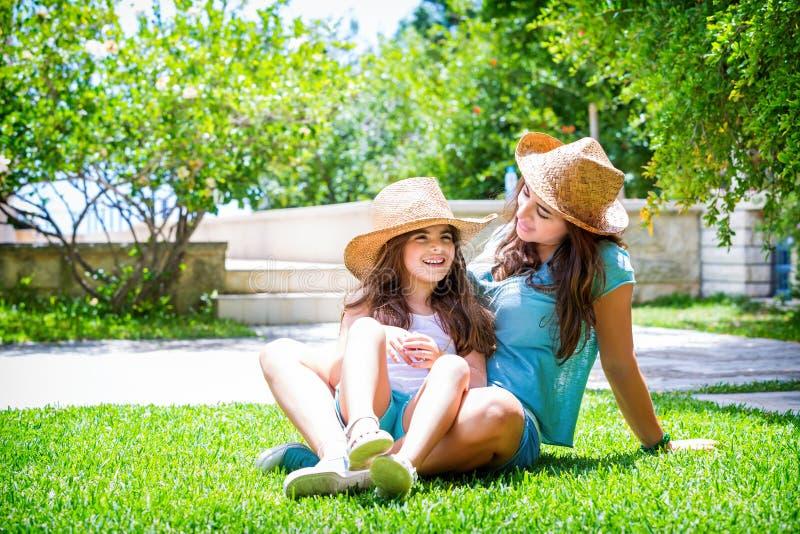 сад семьи счастливый стоковое фото