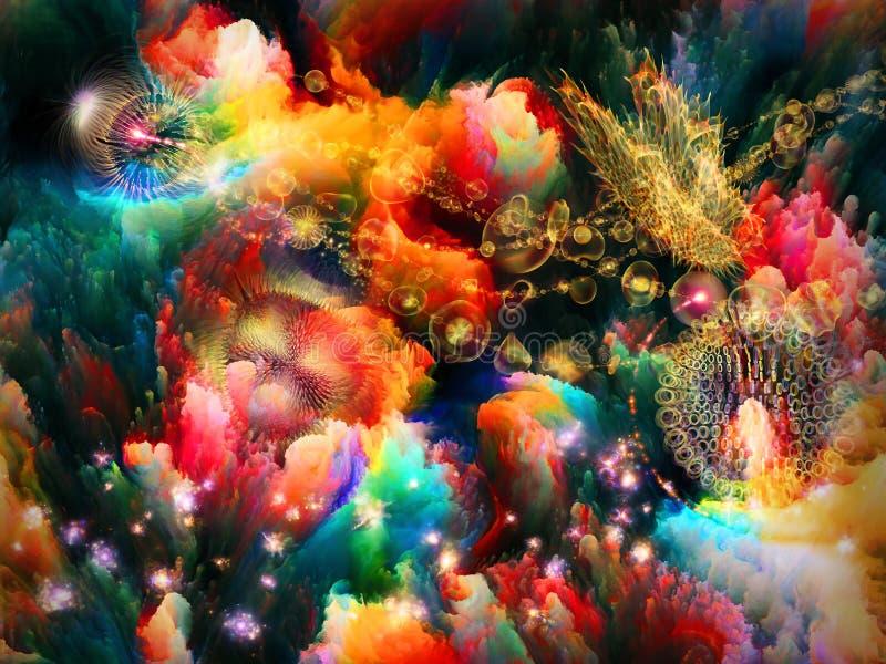 Сад фрактали. стоковое изображение