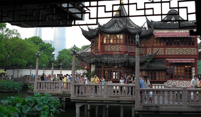 Сад Шанхая Китая yuyuan стоковое изображение rf