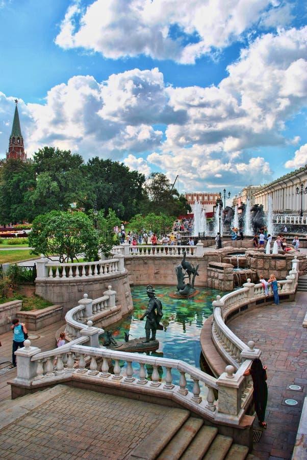 Сады Александра в Москве стоковое фото