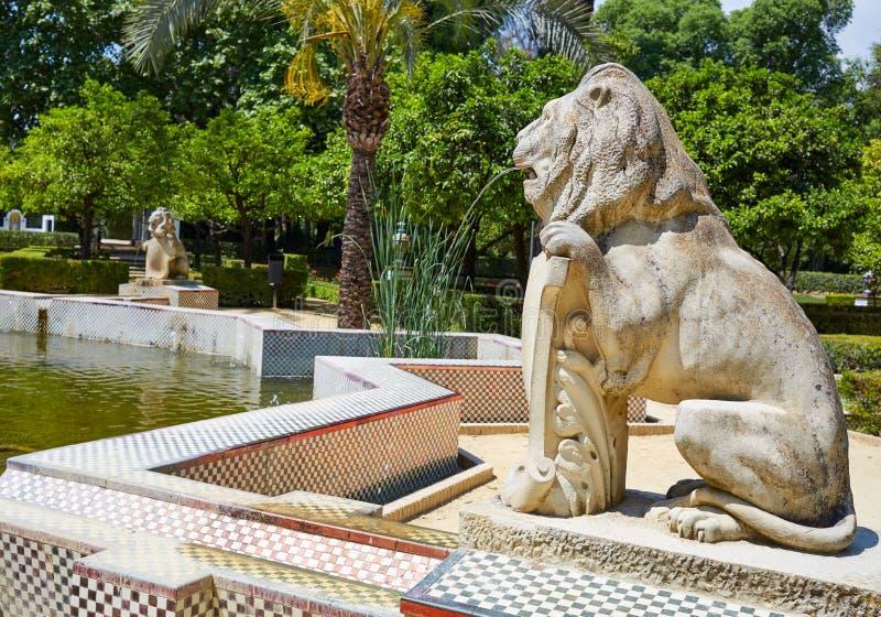 Сады Испания парка Севильи maria luisa стоковые изображения rf