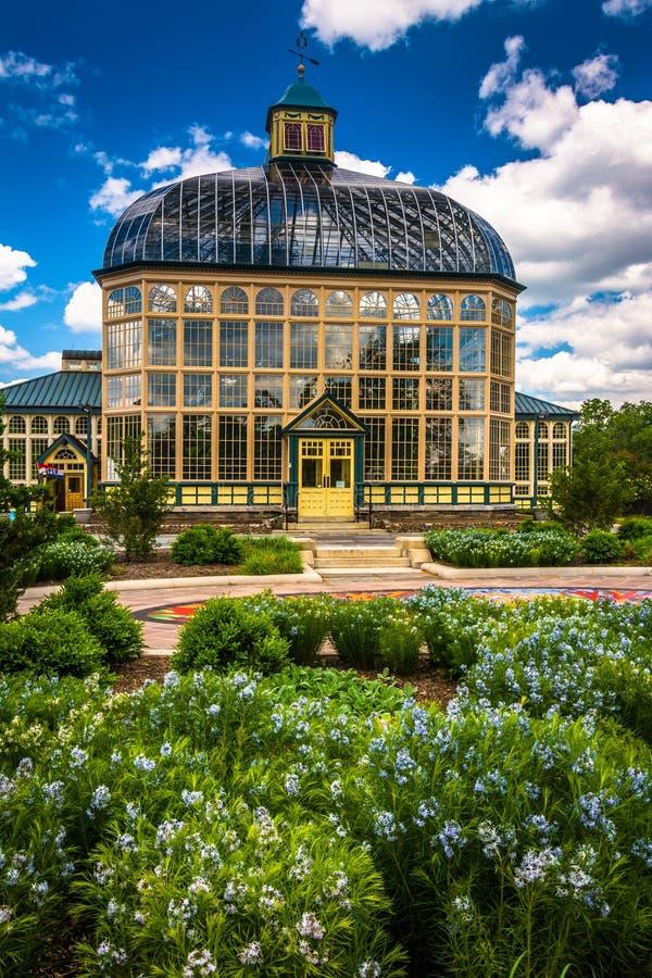 Сады и консерватория Говарда Peters Rawlings в друиде Hil стоковые изображения rf