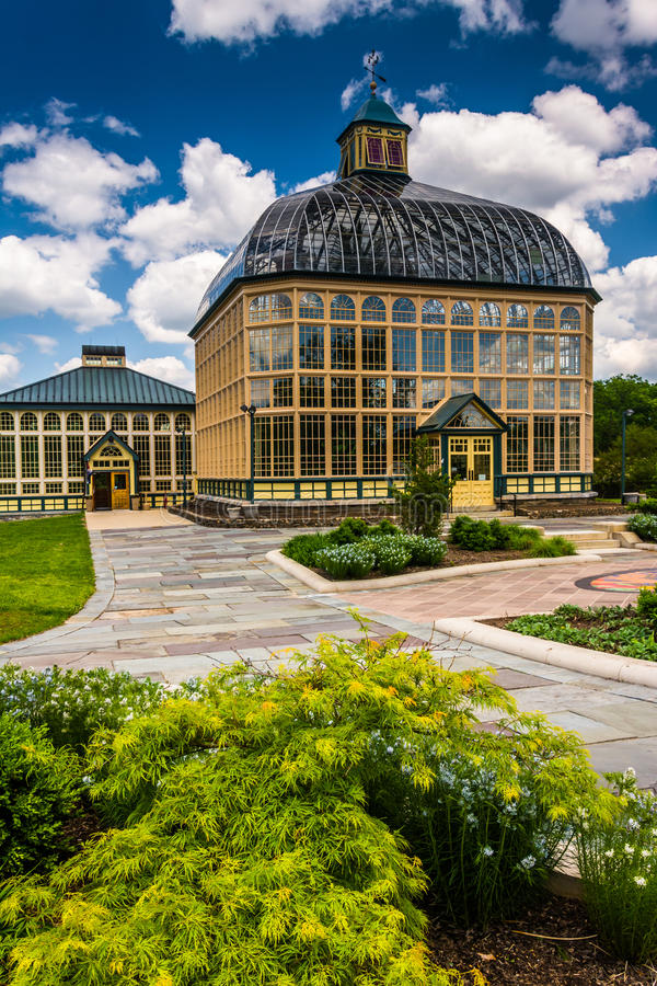 Сады и консерватория Говарда Peters Rawlings в друиде Hil стоковая фотография