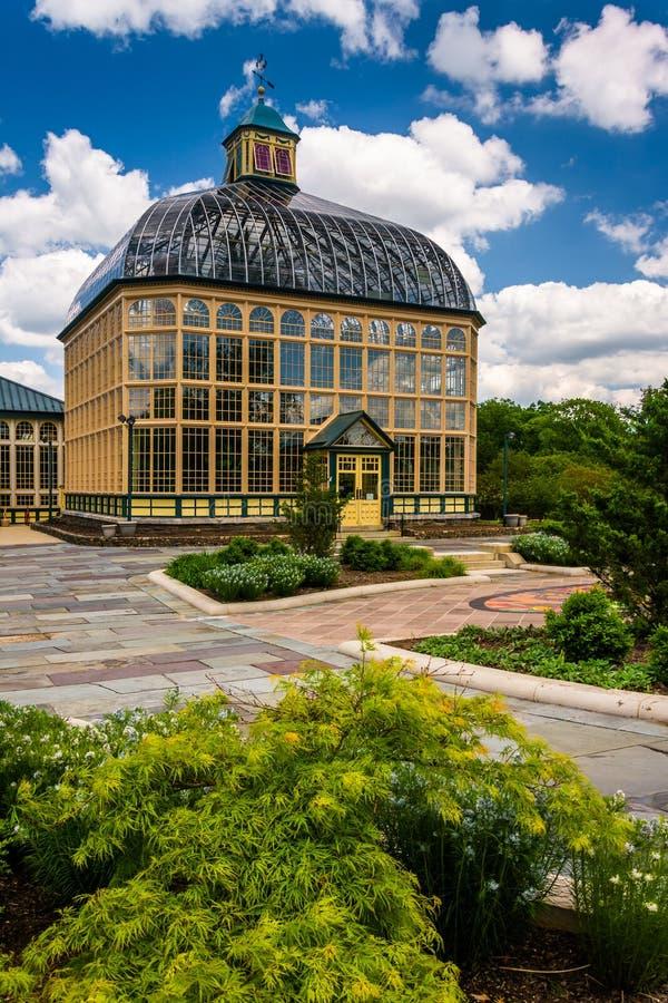 Сады и консерватория Говарда Peters Rawlings в друиде Hil стоковые фото
