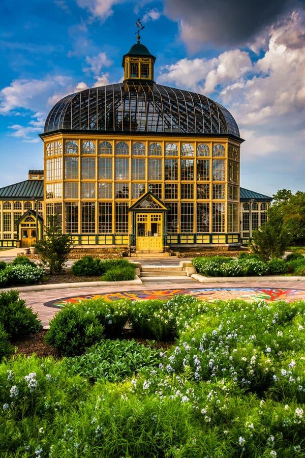 Сады и консерватория Говарда Peters Rawlings в друиде Hil стоковая фотография rf