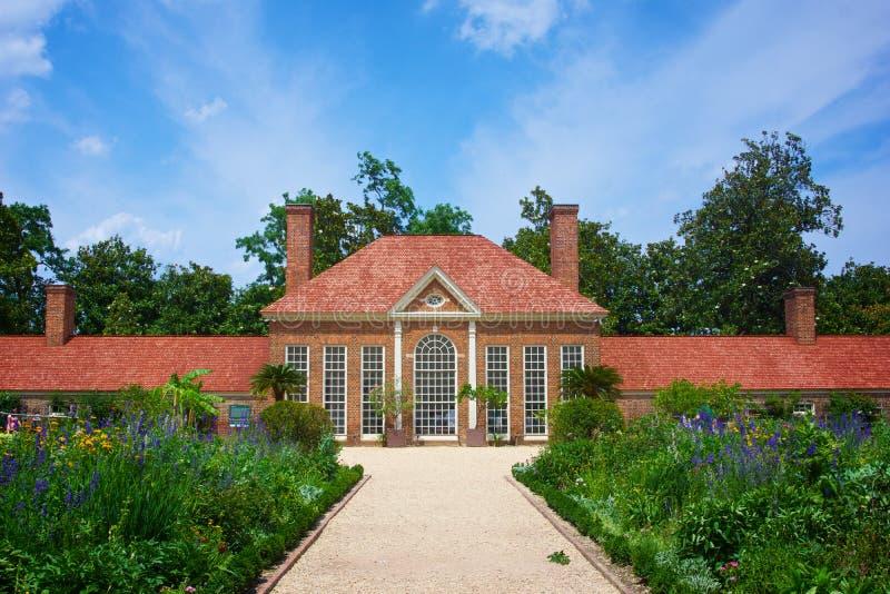 Сады на плантации Mount Vernon стоковое фото rf