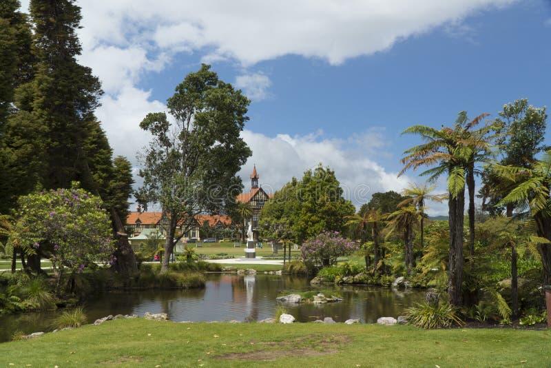 Сады правительства новое rotorua zealand стоковое фото