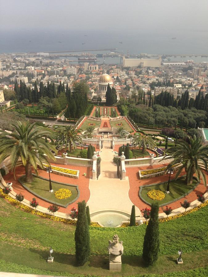 Сады Хайфы Израиля красивые стоковые фотографии rf
