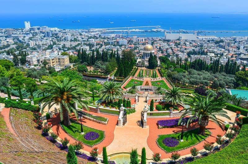 Сады Bahai в Хайфе Израиле. стоковые изображения rf