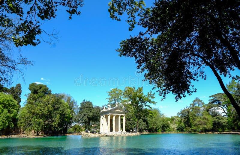 Сады Borghese виллы в Риме стоковое фото