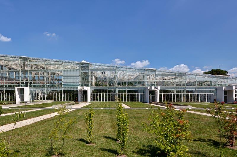 Сад экосистемы парника ботанический, Падуя, Италия стоковые изображения rf