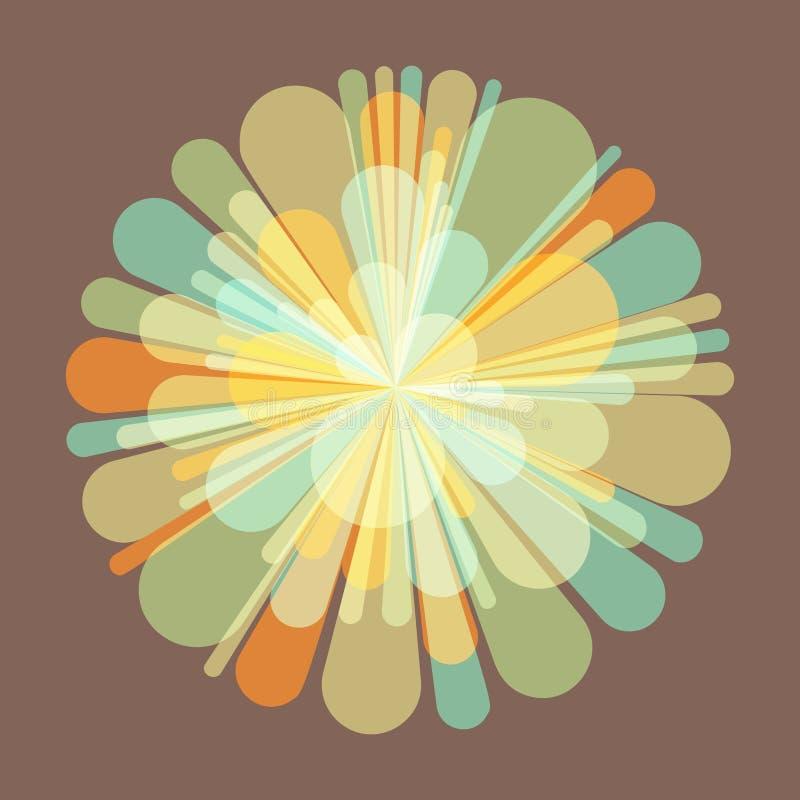 Салют и фейерверки иллюстрация 3d торжество карточки торта цветет Валентайн s иллюстрация штока
