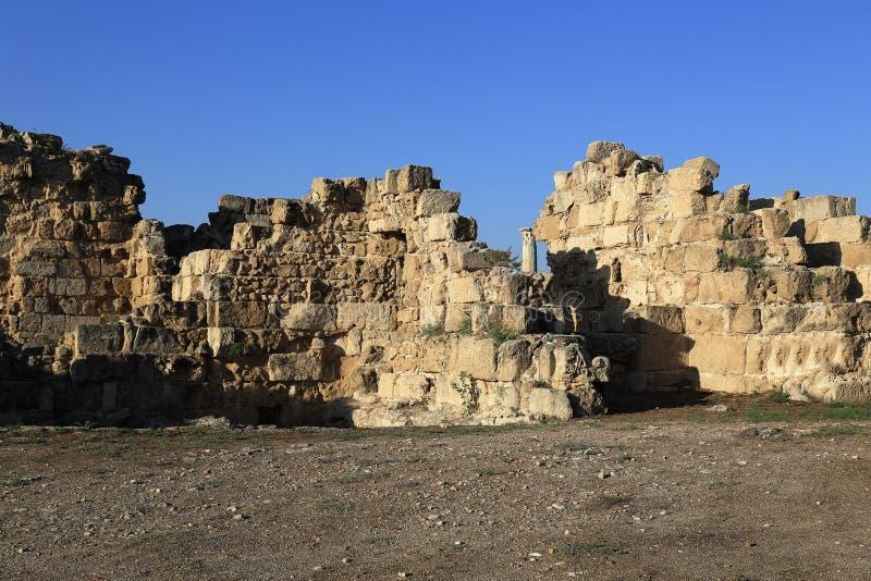 Салями (древнегреческий: '¼ Î¯Ï Î±Î Î£Î±Î») город-государство древнегреческия на восточном побережье Кипра стоковое изображение rf