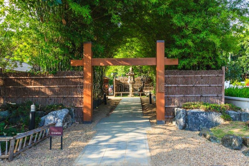 Сад японца входа стоковое фото rf
